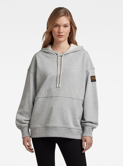 Loose Fit Faded Back Graphic Hoodie