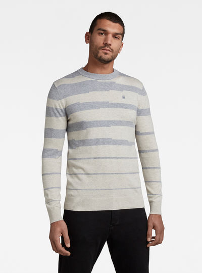Broken Stripe Knitted Sweater