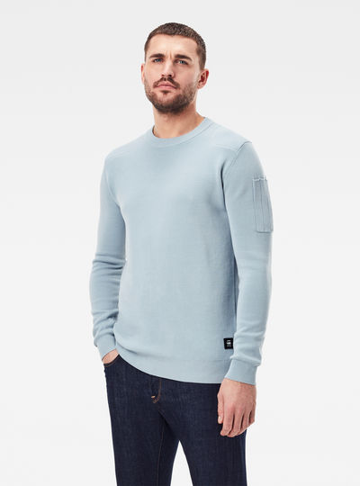Sleeve Pocket knitted Sweater