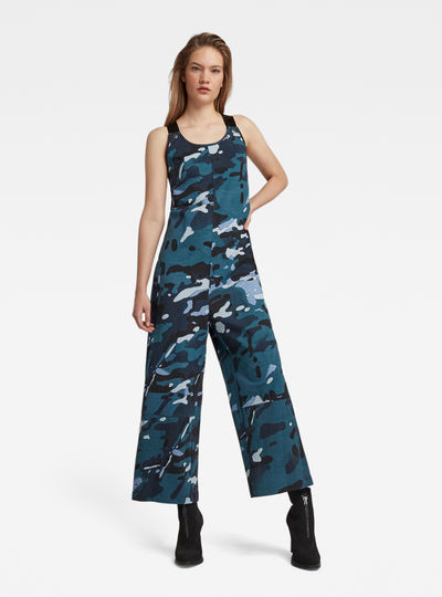 Dungaree Camo Allover Jumpsuit