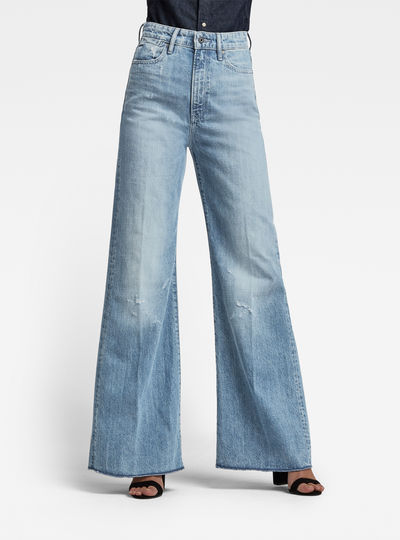 Deck Ultra High Wide Leg Jeans
