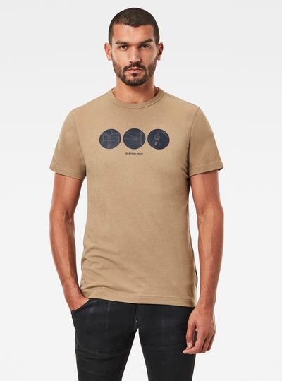 Circle Object Back Graphic T-Shirt