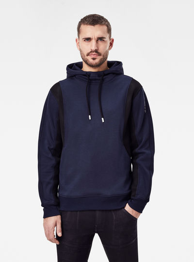 Moto Mesh Hooded Sweater