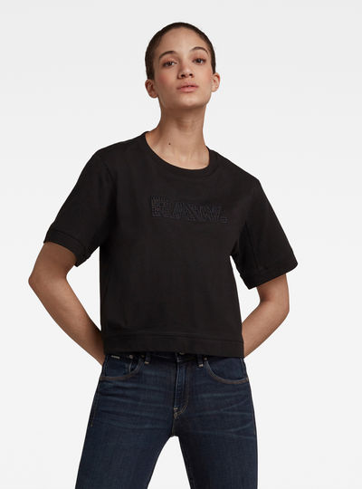 Boxy Fit RAW Embroidery Tee