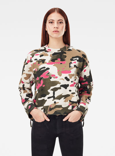 Loose Fit Camo All Over Sweater
