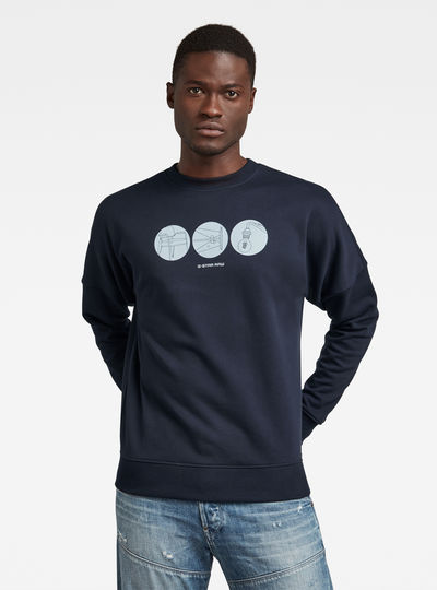 Dropped Shoulder Objects Graphic Sweater