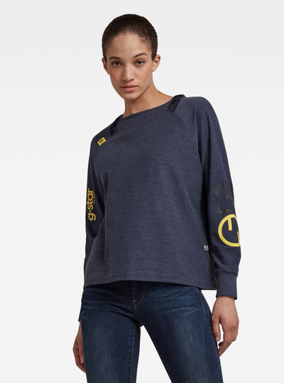 Sleeve Print Tweater