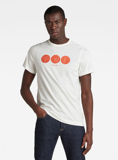 T-shirt Circle Object Back Graphic