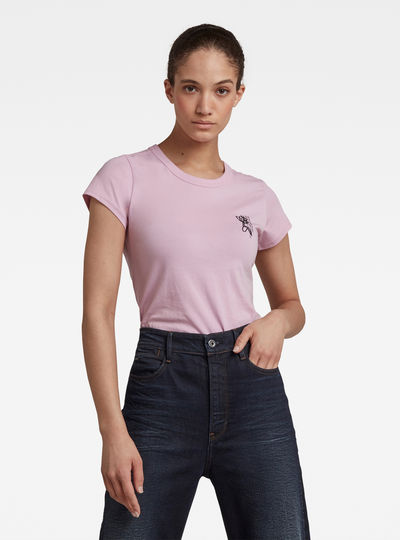 T-shirt Slim Fit Tulip Print