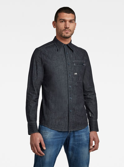 Zip Pocket Slim Hemd