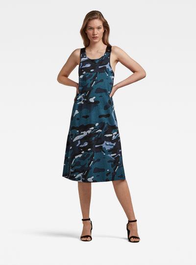 A-Line Dungaree Camo Dress
