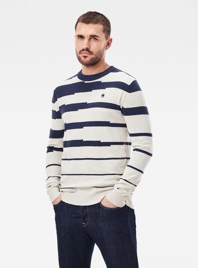 Broken Stripe Knitted Pullover