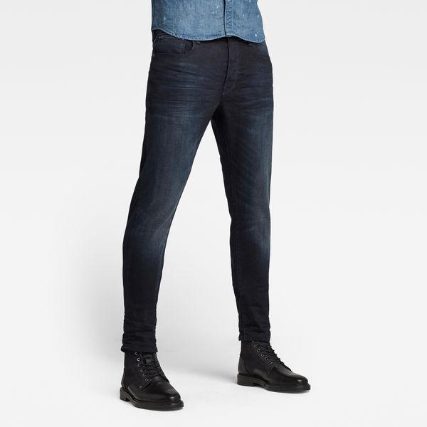G-Star Herren Jeans 3301 Slim Fit Denim Stretch Hose Schwarz Dark Aged Cobler