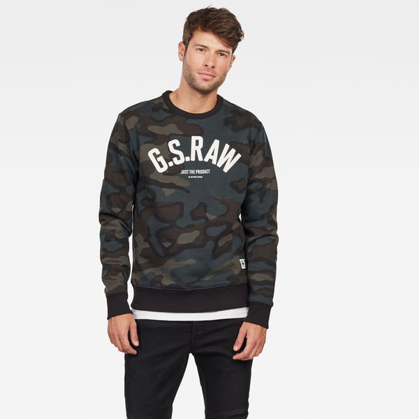 G-STAR RAW Mens Graphic 12 Slim Crew Sweatshirt