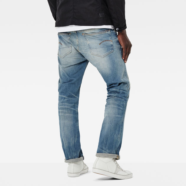 G-Star Raw Mens 3301 Straight-Fit Jean in Cyclo Stretch Denim