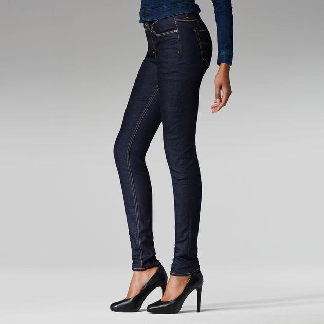 3301 Mid Waist Contour Skinny Jeans Raw Denim G Star Raw