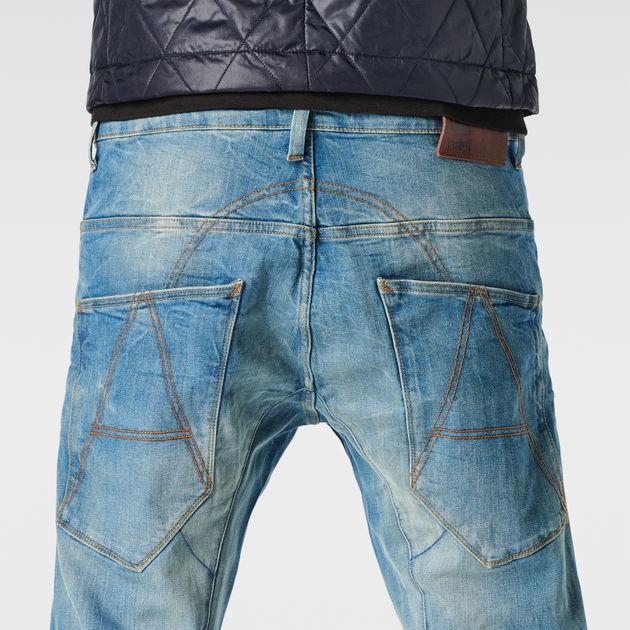 G Star Jeans A Crotch 3D Tapered Light Aged Denim