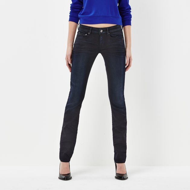 9ea885e5671 Attacc Mid Waist Straight Jeans | Dark Aged | Women | G-Star RAW®