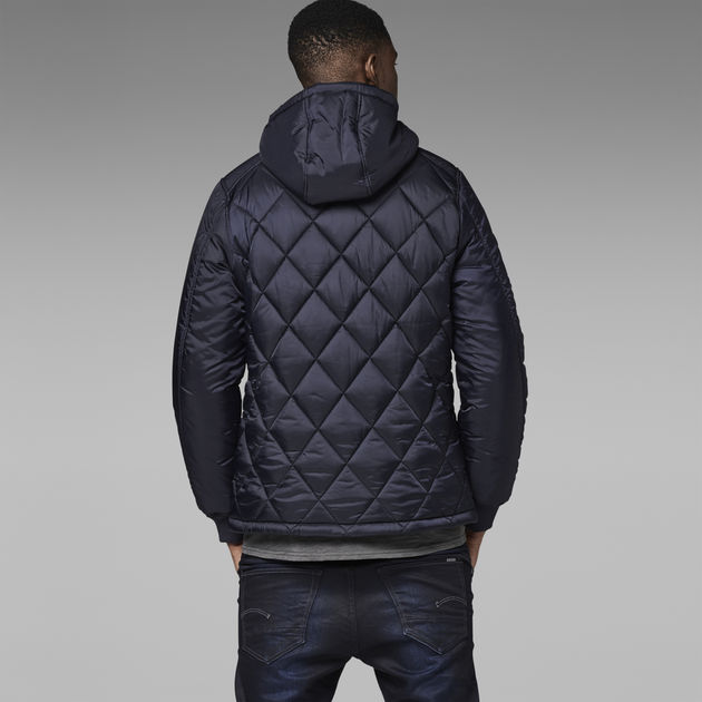 eceb6daa20b FIBRICK HOODED JACKET | Mazarine Blue | Men | G-Star RAW®
