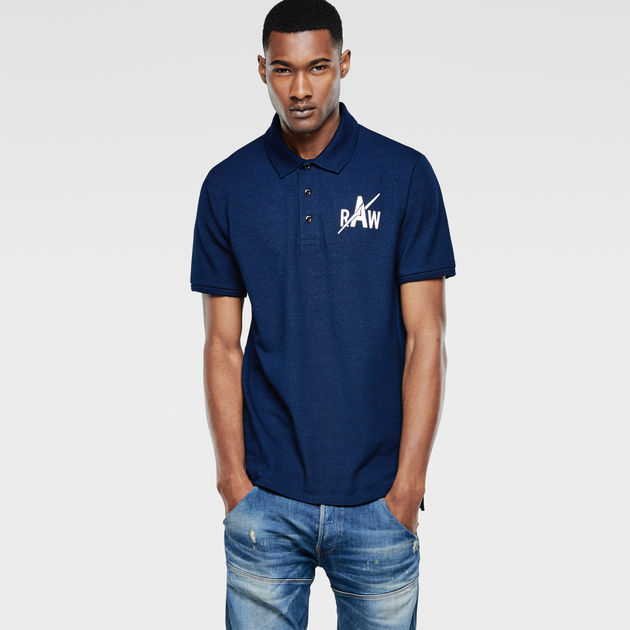 8e6ccddc Indigo Polo T-Shirt | Dark Aged | Men | G-Star RAW®