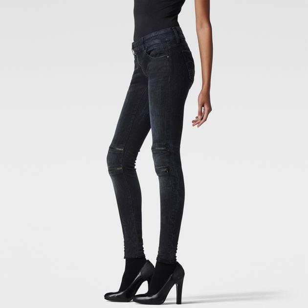 Lynn Custom Zip Mid Waist Skinny Jeans