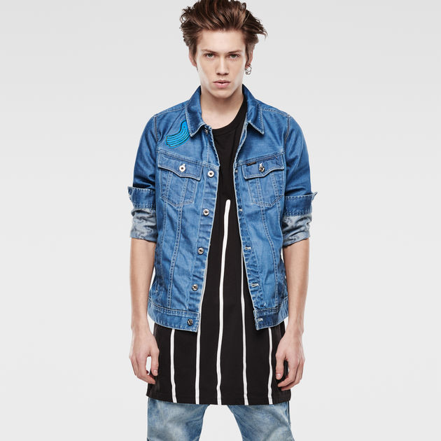 Raw For The Oceans Slim Tailor 3D Jacket