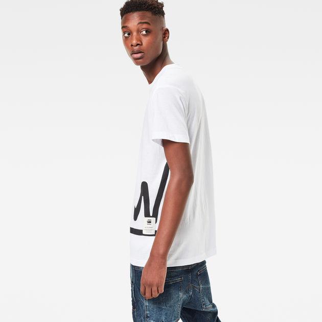 07a9c8390fd Manes Zoomed T-Shirt | White | Men | G-Star RAW®