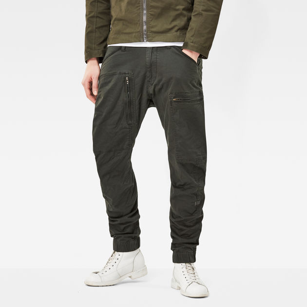 G Star Powel 3D Tapered Cuffed Pants,G Star Men's Trousers,G