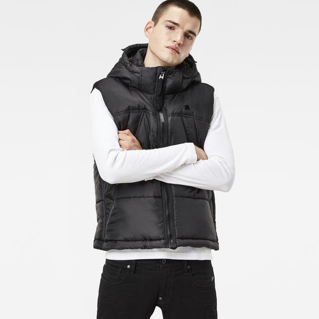 a02176b8ed718 Whistler Hooded Vest | Black | Men | G-Star RAW®