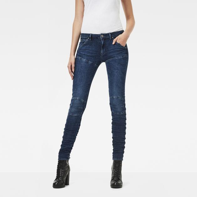 5620 G Star Elwood Mid Waist Skinny Jeans | G Star RAW®