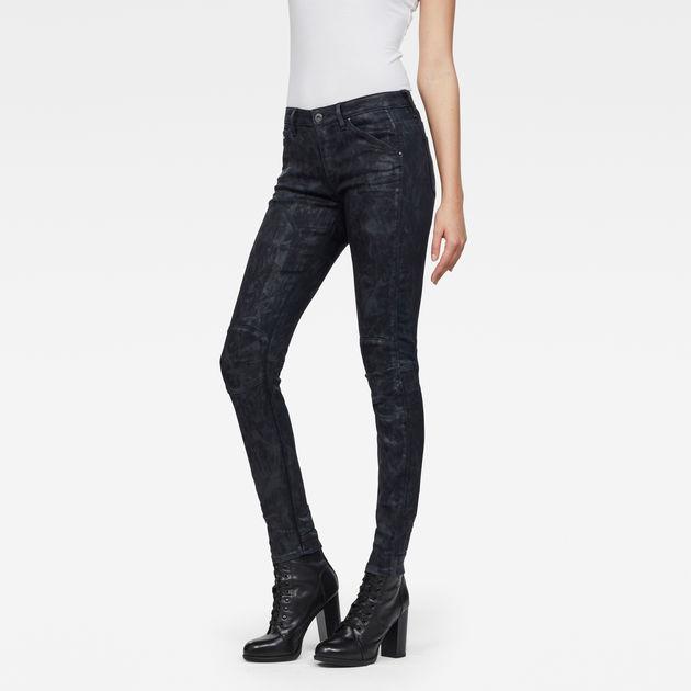 G-STAR RAW Womens 5622 Mid Waist Skinny Jeans