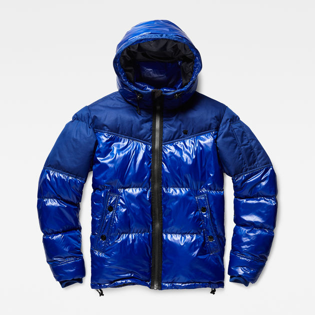 ceb5d757342 Whistler Hooded Quilted Jacket | Hudson Blue | Men | G-Star RAW®