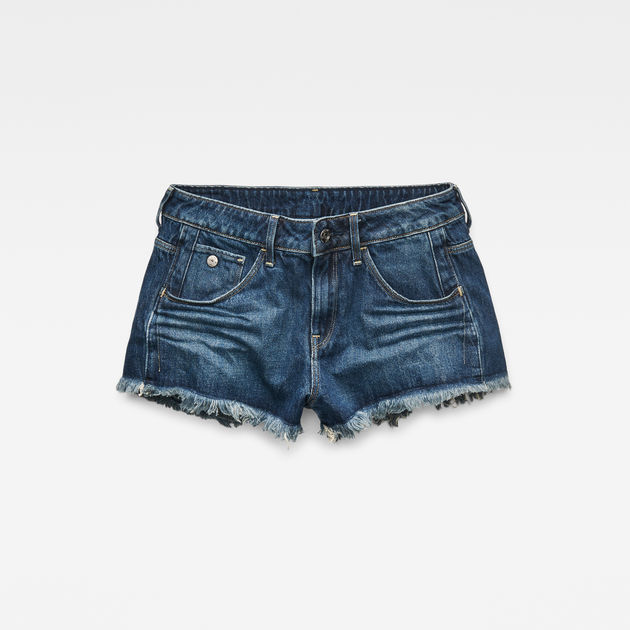 19cd89cf6e40 Arc Mid Waist Ripped Shorts