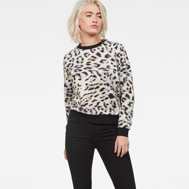Leopard Cropped Sweater
