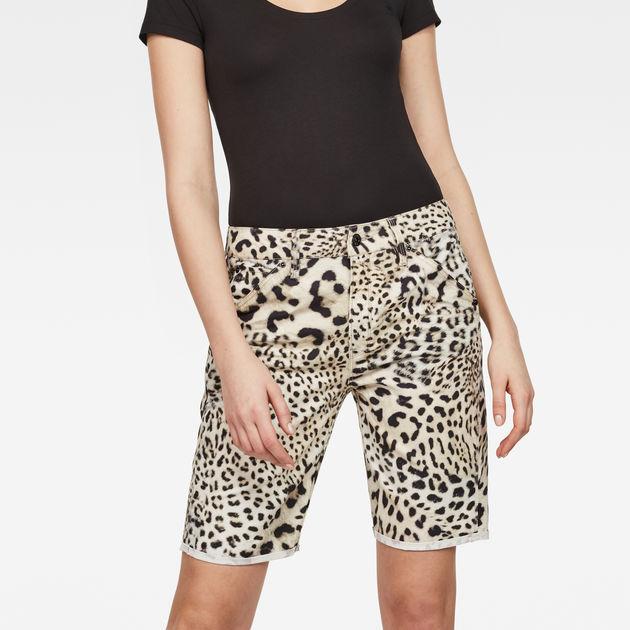 d930a0e80 5621 Boyfriend Women's Shorts   Leopard Print   G-Star RAW®