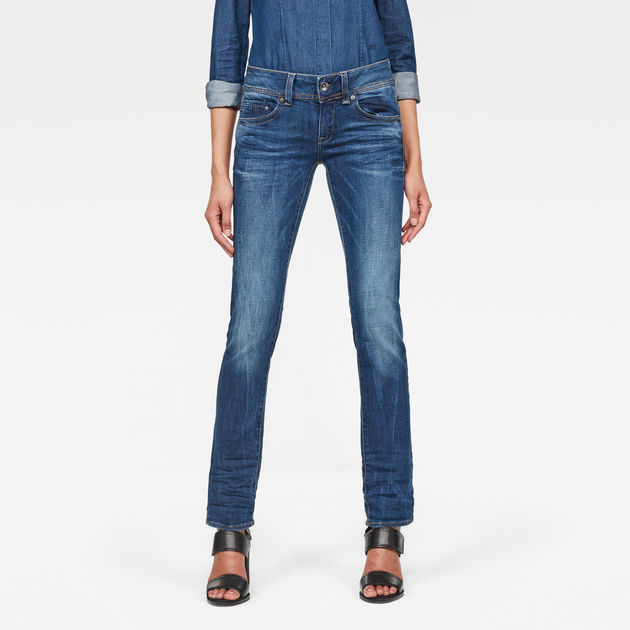 dd5dd50ad70 Midge Saddle Straight Jeans | Medium Aged | Women | G-Star RAW®