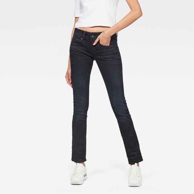 5d21b19b4c5 Midge Saddle Mid Waist Straight Jeans | Dark Aged | G-Star RAW®