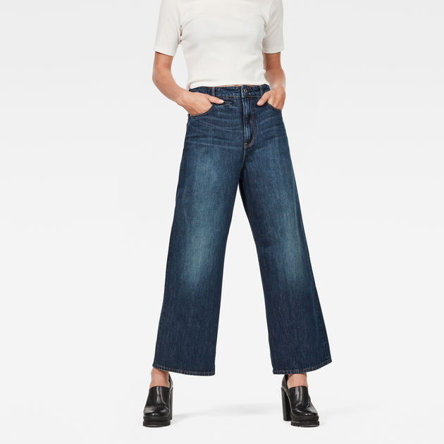76b7c5193c D-Staq 5-Pocket High Waist Wide Leg Jeans | G-Star RAW®