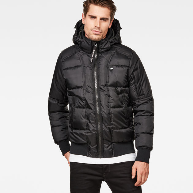 b18907cc997 Whistler Quilted Hooded Bomber | Dark Black | Men | G-Star RAW®