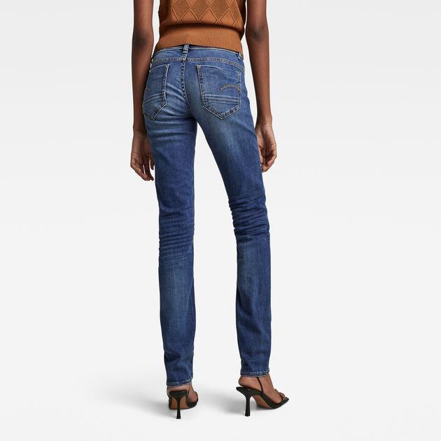 c5bbb4bf6f3 Midge Saddle Mid Waist Straight Jeans | G-Star RAW®