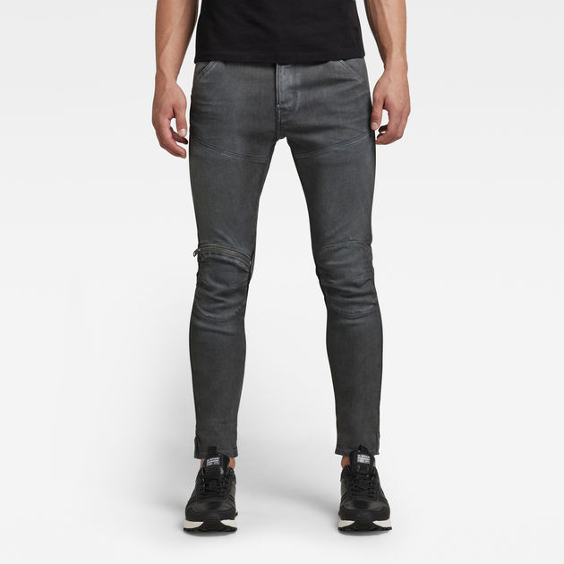 6ec1b8d22b0 5620 3D Zip Knee Super Slim Jeans