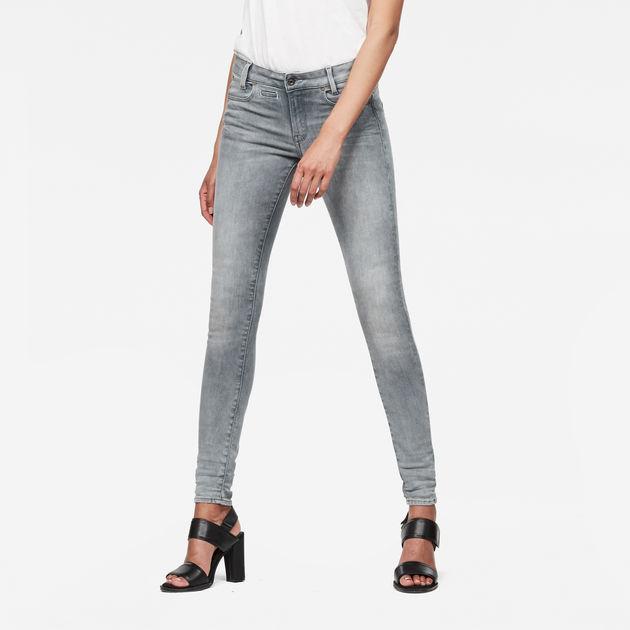 a93557b0bea D-Staq 5-Pocket Mid Waist Skinny Jeans   Light Aged   G-Star RAW®