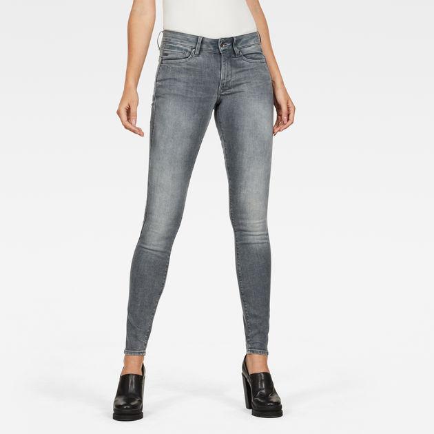 G-STAR RAW Womens Midge Zip Mid Waist Skinny Jeans