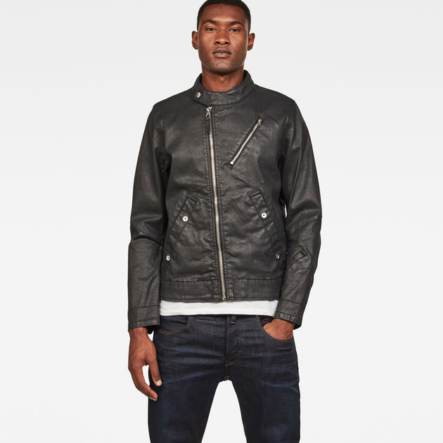new specials buy popular lace up in Empral Deconstructed 3D Biker Jacket | Dark Aged | G-Star RAW®