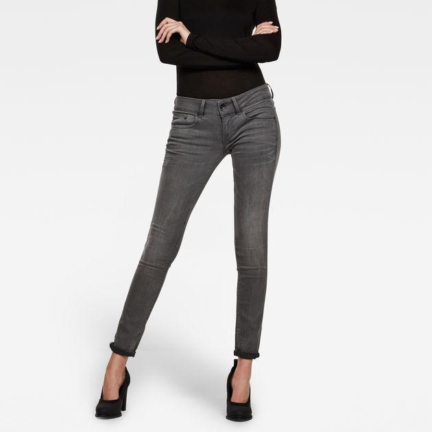 G Star Jean Femme G Star Midge Cody Skinny Dark Aged