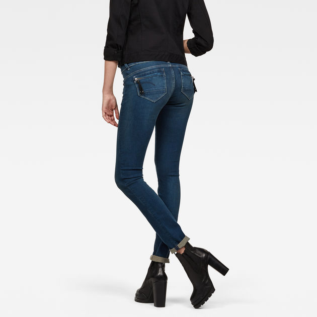 G Star Midge Cody Mid Skinny Jeans Femmes | Livraison