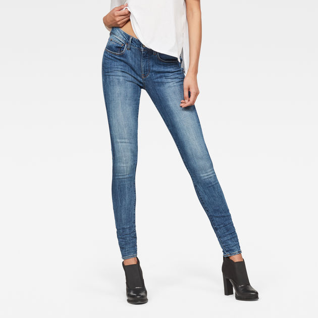grande vente 61cd1 ec6c6 3301 D-Mid Waist Super Skinny Jeans