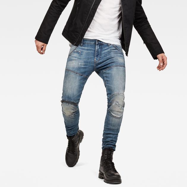 5620 G Star Elwood 3D Zip Knee Super Slim Jeans