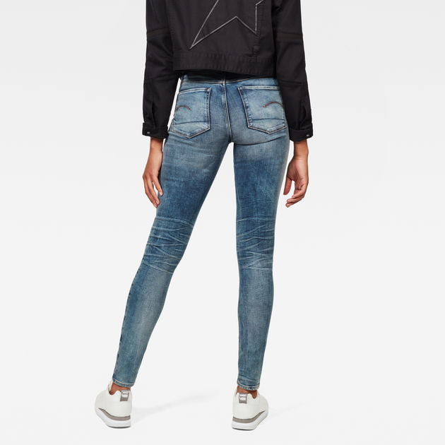 G star 3301 Deconstructed High Waist Skinny Jeans
