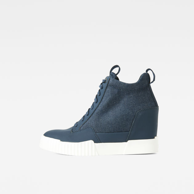 Rackam Wedge Sneakers | Dark Saru Blue